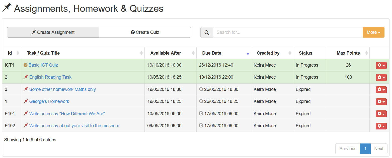 how to create online quizzes for students